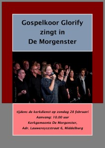 Poster Glorify Morgenster