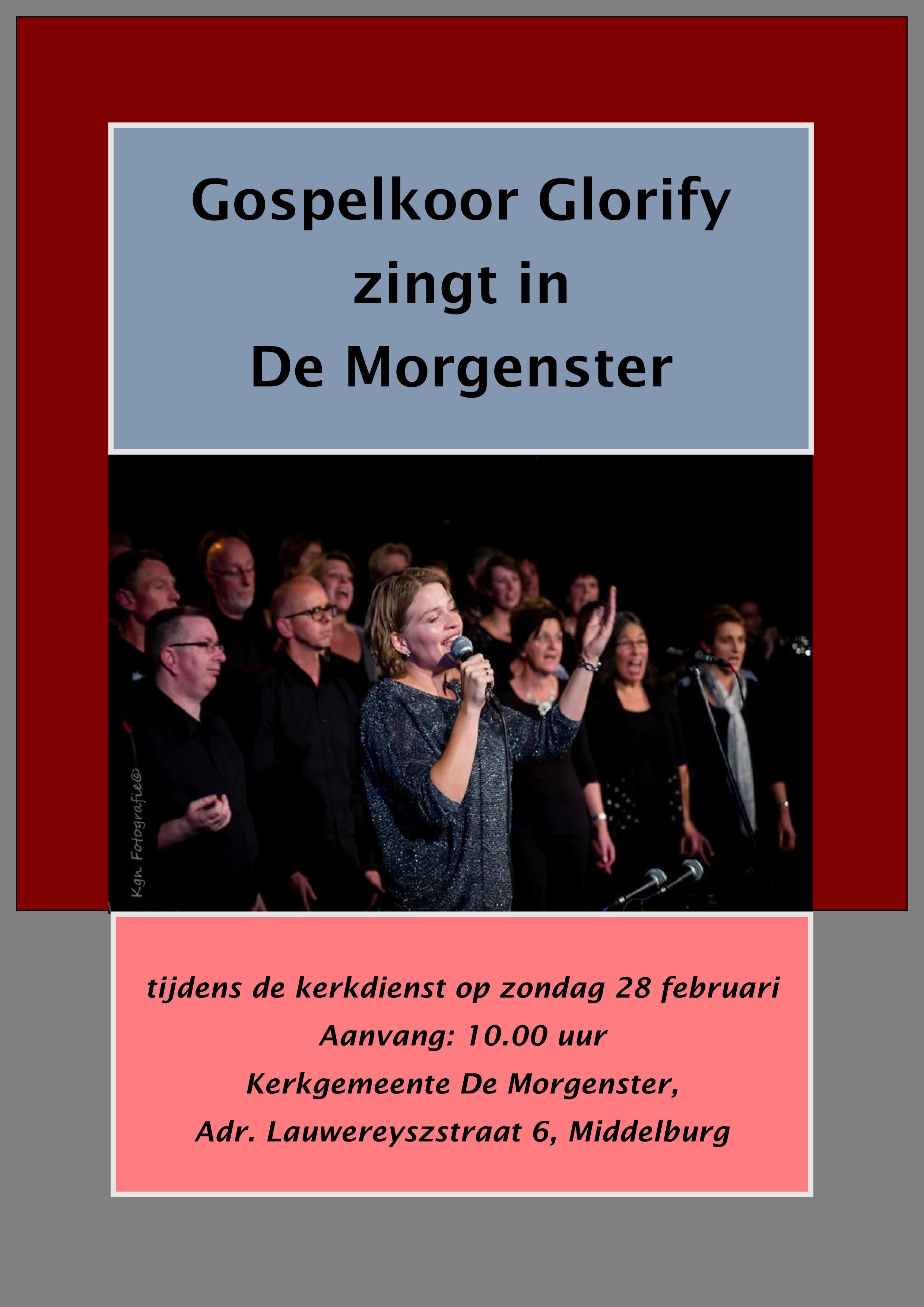 Poster Glorify Morgenster